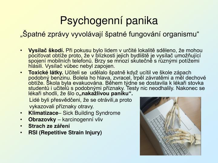 Psychogenní panika