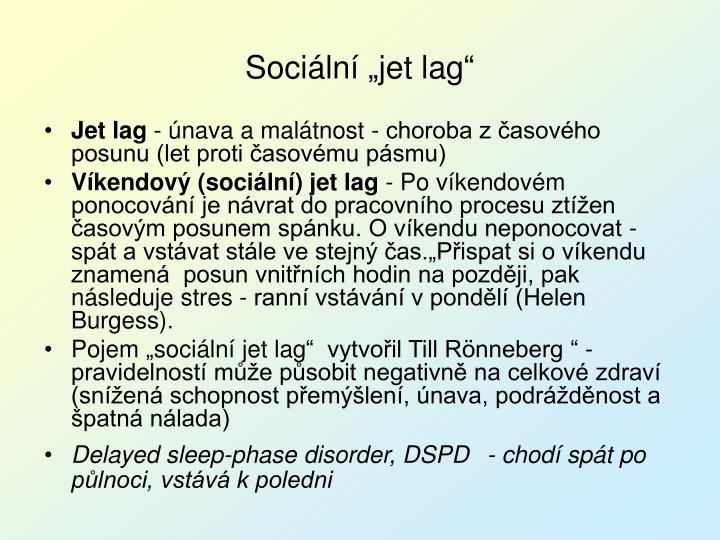 """Sociální """"jet lag"""""""