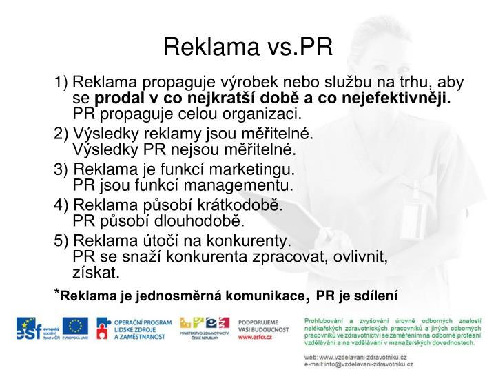 Reklama vs.PR