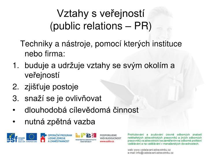Vztahy s veřejností