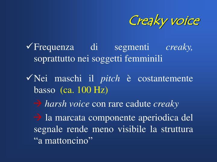 Creaky voice