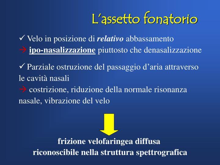 frizione velofaringea diffusa