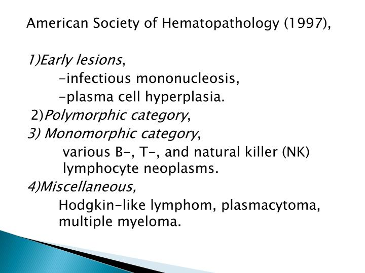 American Society of Hematopathology (1997),