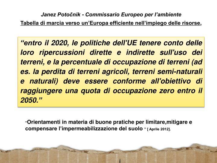 Janez Potočnik - Commissario Europeo per l'ambiente