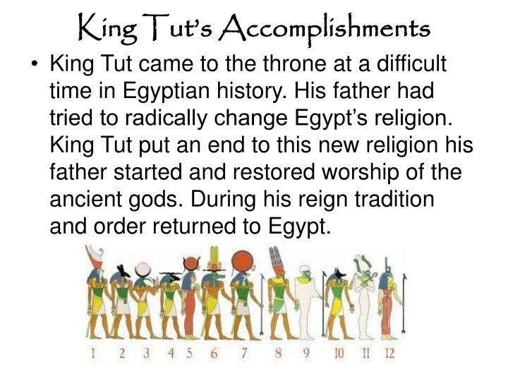 King Tut's Accomplishments