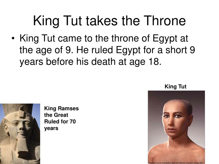 King Tut takes the Throne