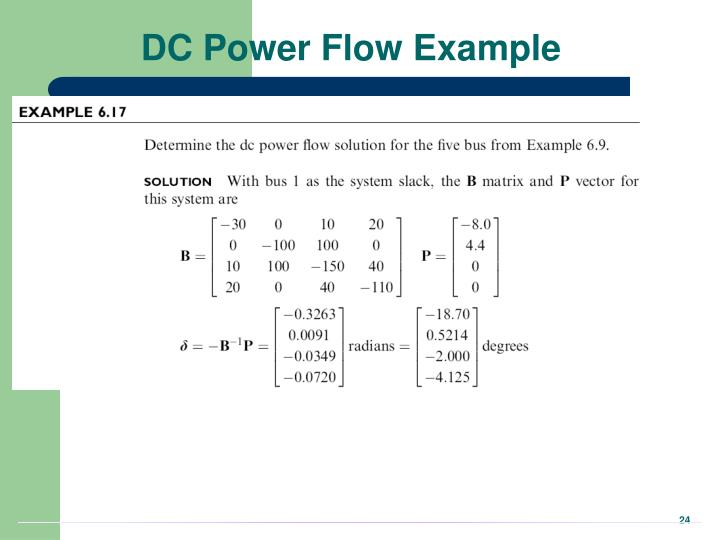 DC Power Flow Example