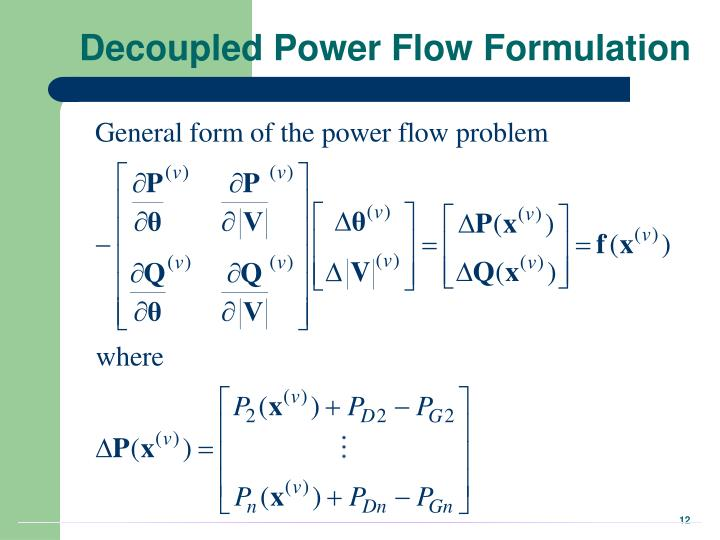 Decoupled Power Flow Formulation