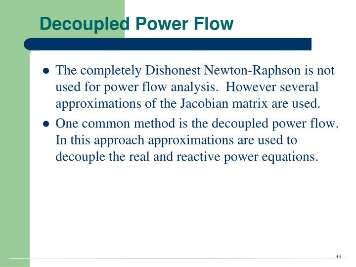 Decoupled Power Flow