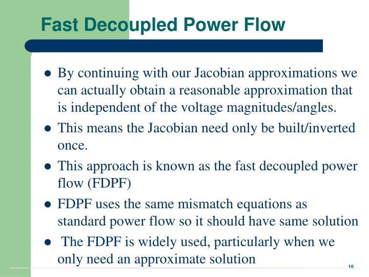 Fast Decoupled Power Flow