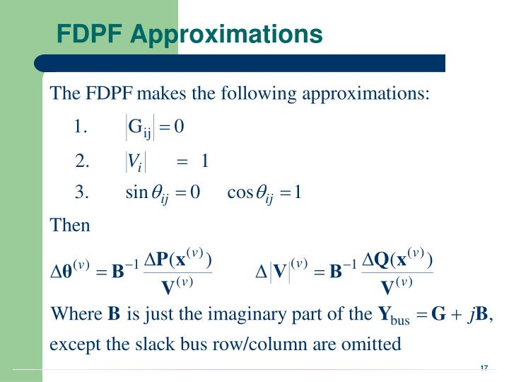 FDPF Approximations