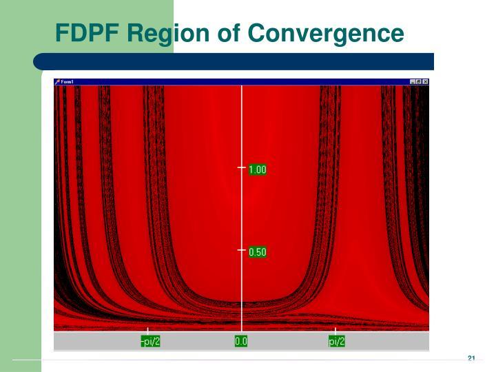 FDPF Region of Convergence