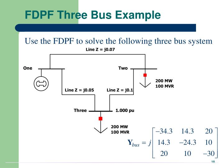 FDPF Three Bus Example