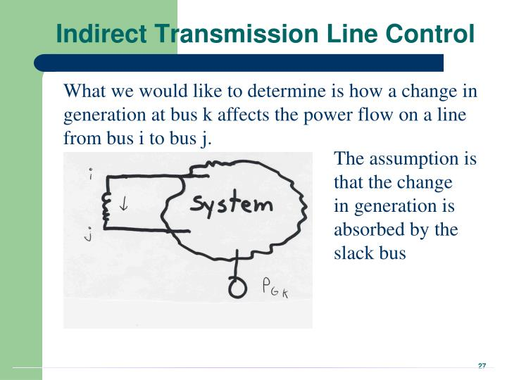 Indirect Transmission Line Control