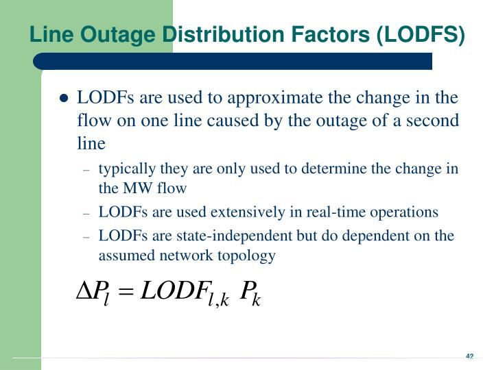 Line Outage Distribution Factors (LODFS)