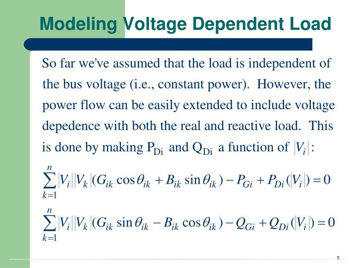 Modeling voltage dependent load