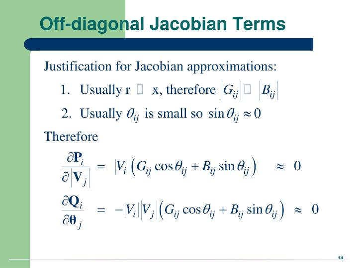 Off-diagonal Jacobian Terms