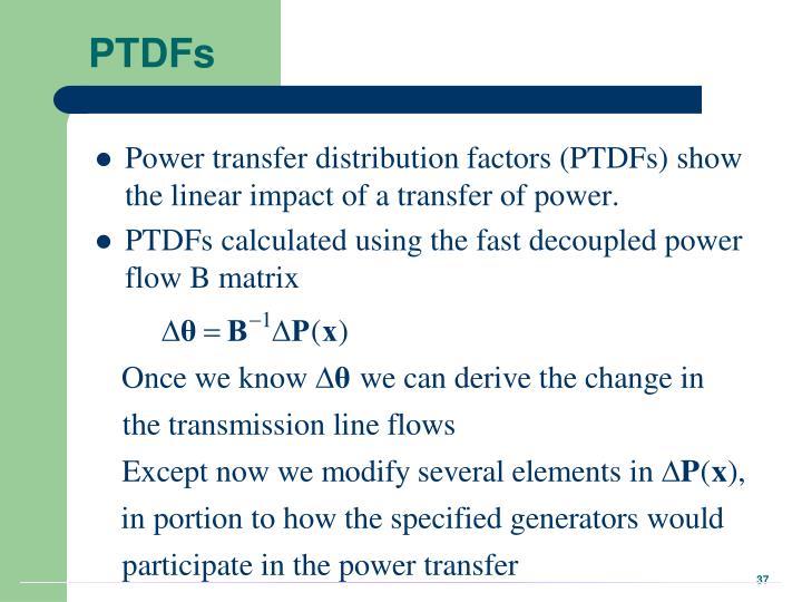 PTDFs