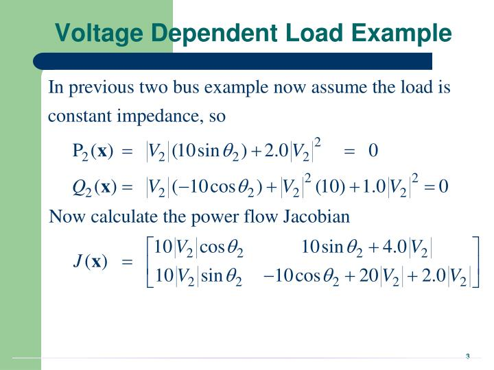 Voltage Dependent Load Example