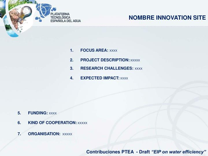 NOMBRE INNOVATION SITE