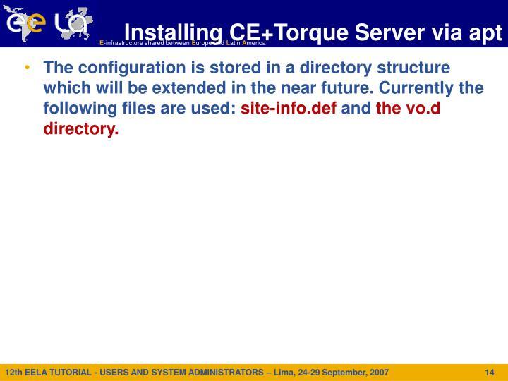 Installing CE+Torque Server via apt