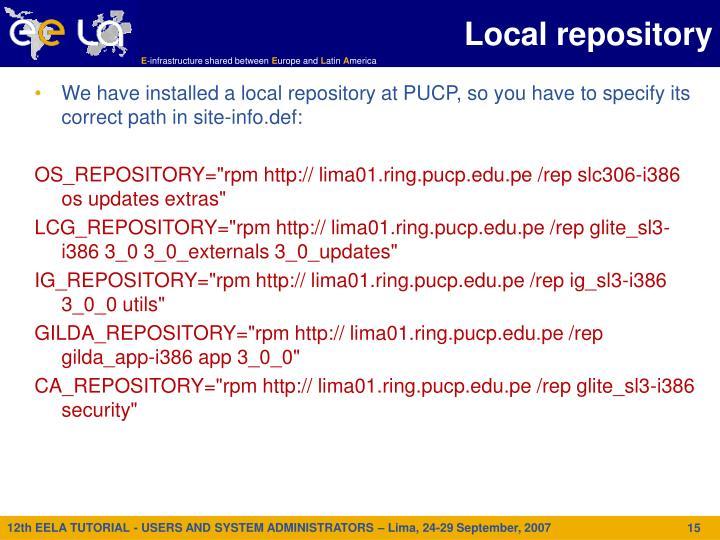 Local repository