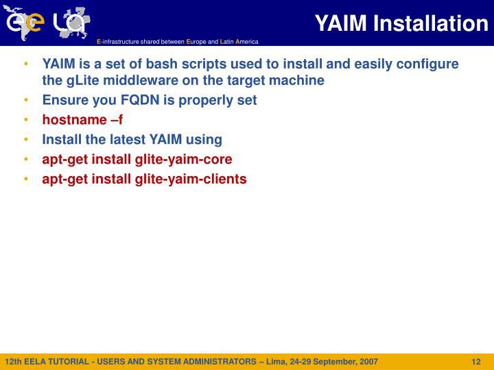 YAIM Installation