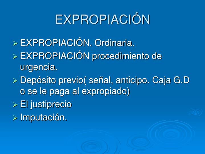 EXPROPIACIÓN