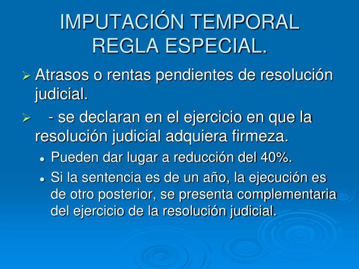 IMPUTACIÓN TEMPORAL