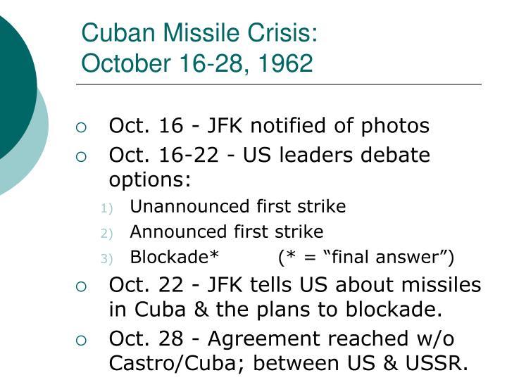 Cuban Missile Crisis: