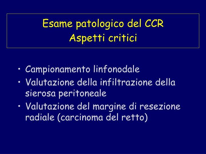Esame patologico del CCR
