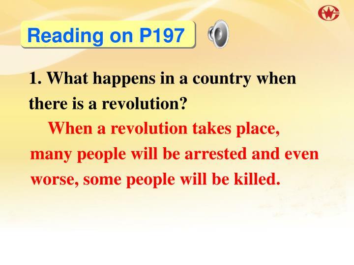 Reading on P197