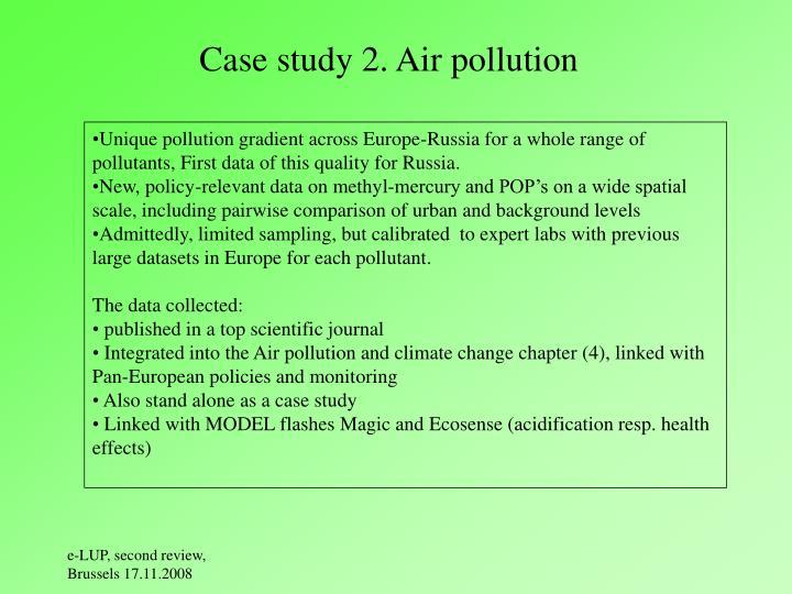 Case study 2. Air pollution