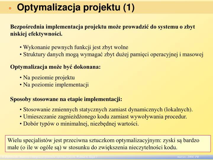 Optymalizacja projektu (1)