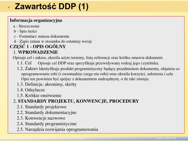 Zawartość DDP (1)
