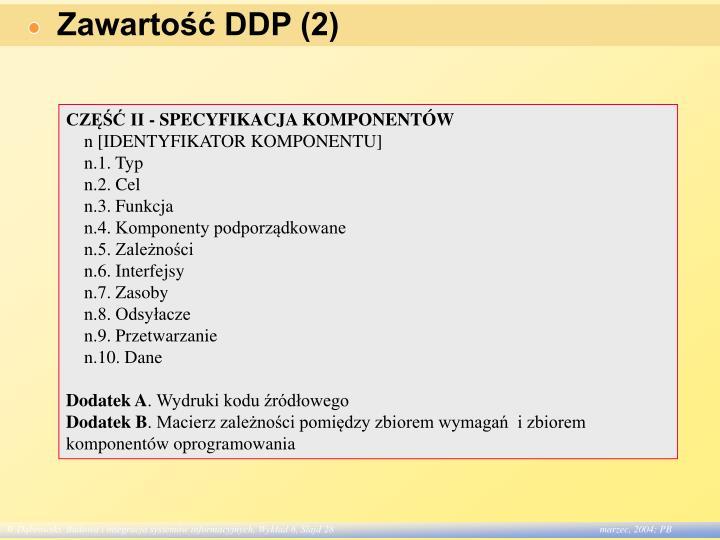Zawartość DDP (2)