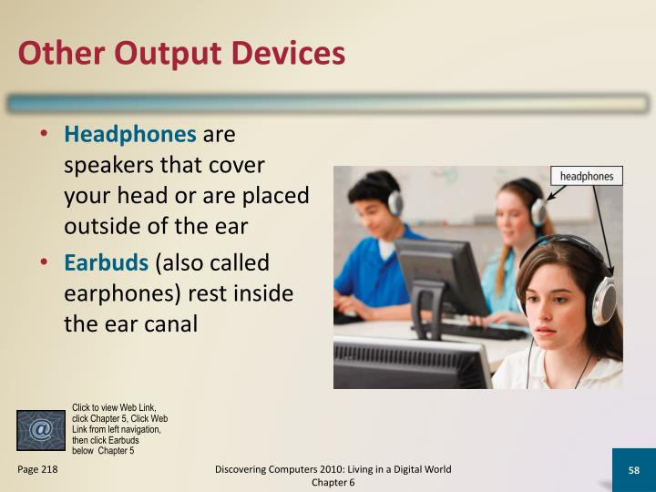 Other Output Devices