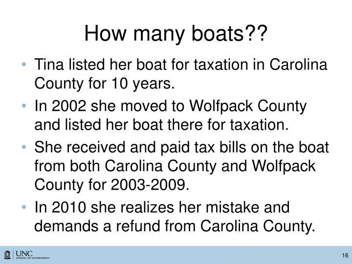 How many boats??