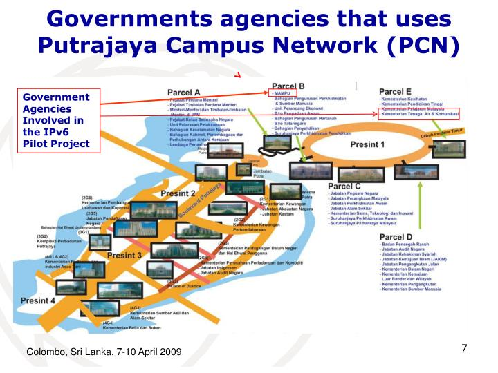 Governments agencies that uses Putrajaya Campus Network (PCN)