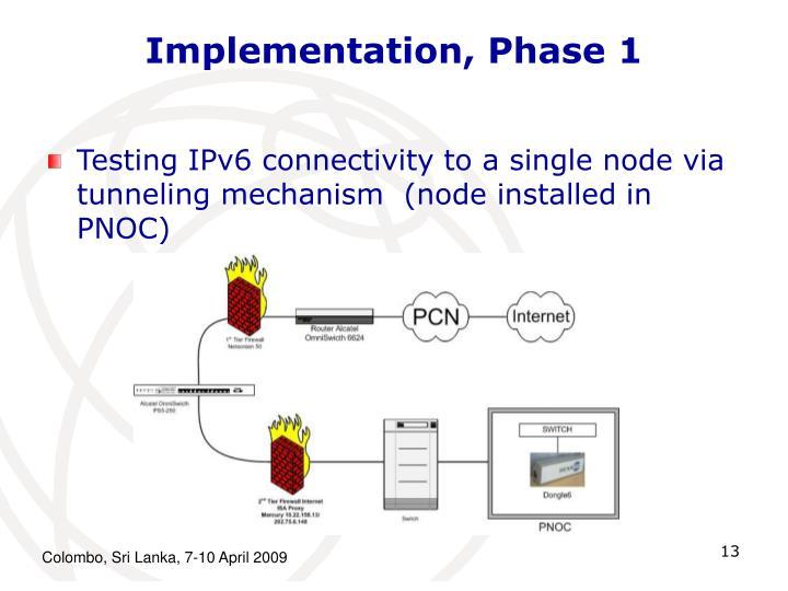 Implementation, Phase 1