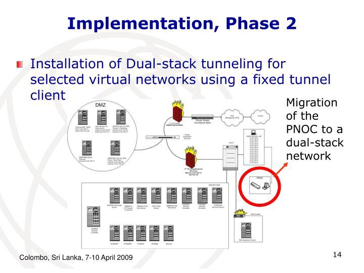 Implementation, Phase 2
