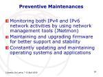 preventive maintenances1