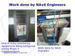 work done by nav6 engineers