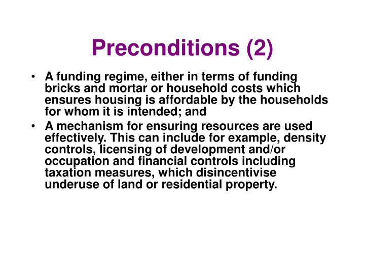 Preconditions (2)