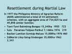 resettlement during martial law1
