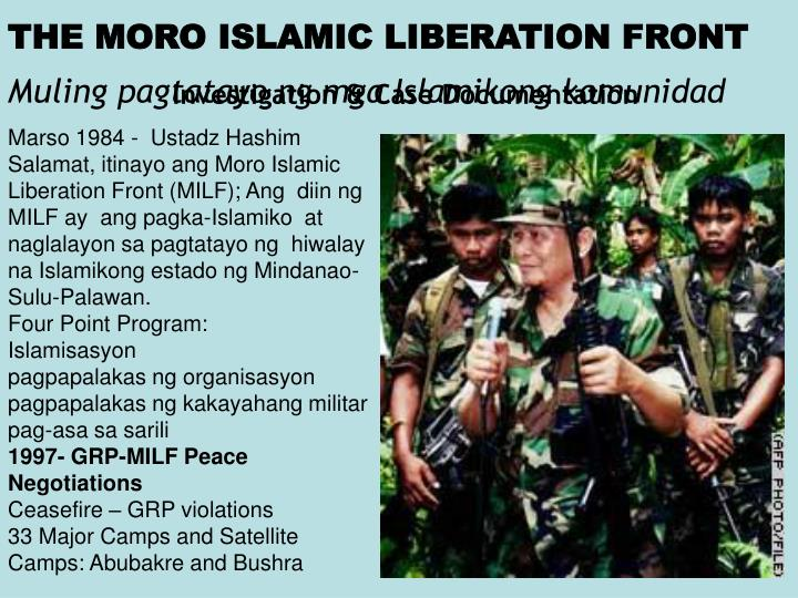 THE MORO ISLAMIC LIBERATION FRONT