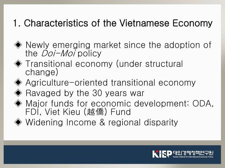 1. Characteristics of the Vietnamese Economy