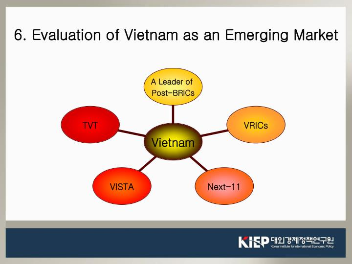6. Evaluation of Vietnam as an Emerging Market
