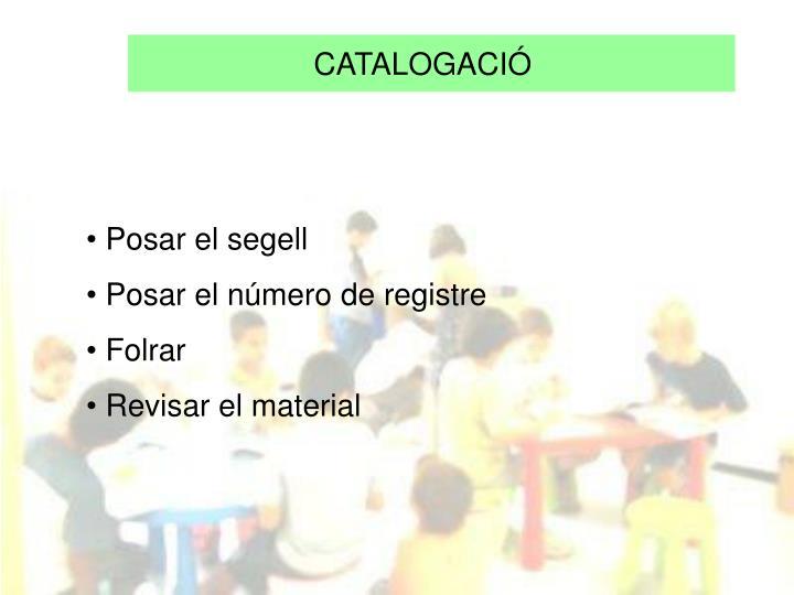 CATALOGACIÓ