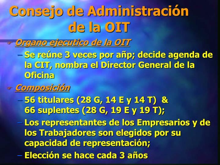 Consejo de Administración de la OIT